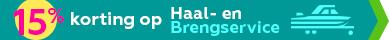 15% korting op Haal-en Brengservice Boathus